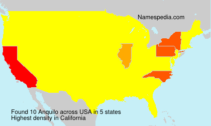 Surname Anquilo in USA