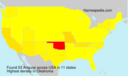 Surname Anquoe in USA