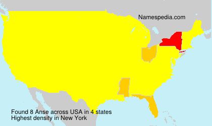 Surname Anse in USA