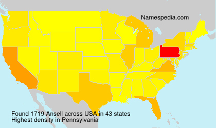 Surname Ansell in USA