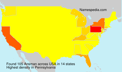 Surname Ansman in USA