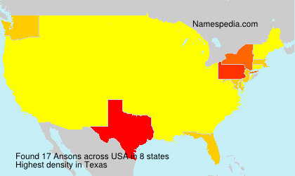 Surname Ansons in USA