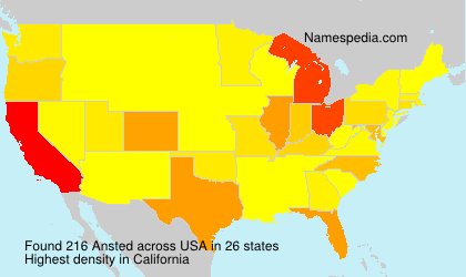 Surname Ansted in USA