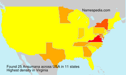 Surname Ansumana in USA