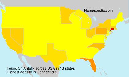 Familiennamen Antalik - USA