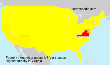 Surname Antayhua in USA