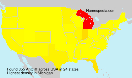 Surname Antcliff in USA