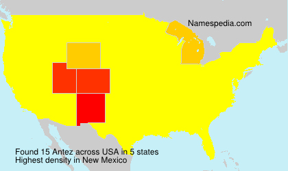Surname Antez in USA