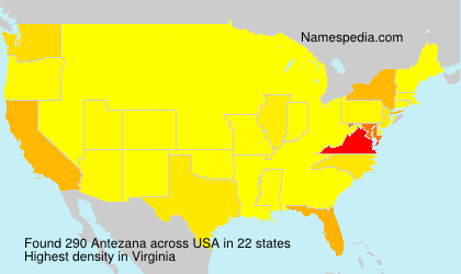 Surname Antezana in USA
