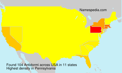 Surname Antidormi in USA