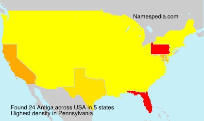 Surname Antiga in USA
