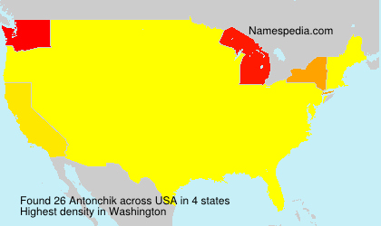 Surname Antonchik in USA
