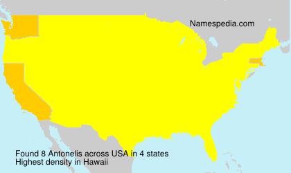 Surname Antonelis in USA