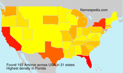 Surname Antonie in USA