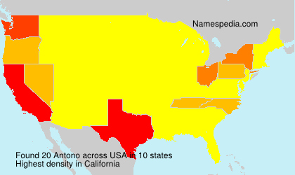 Surname Antono in USA