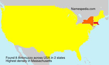 Surname Antonuzzo in USA