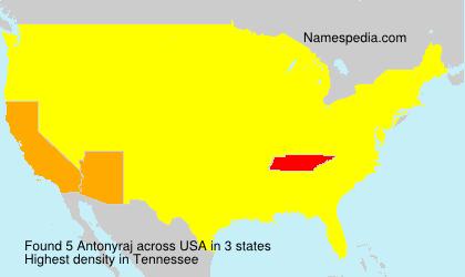 Surname Antonyraj in USA
