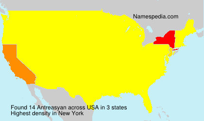 Surname Antreasyan in USA
