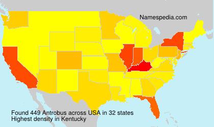Surname Antrobus in USA