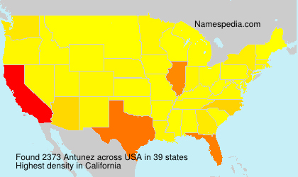 Surname Antunez in USA