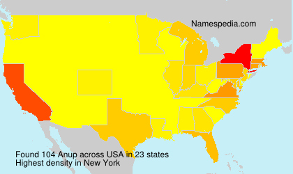 Surname Anup in USA