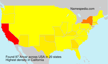 Surname Anvar in USA
