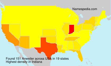 Familiennamen Anweiler - USA