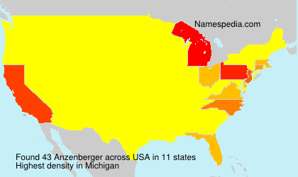 Surname Anzenberger in USA