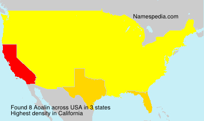 Surname Aoalin in USA