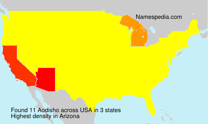 Surname Aodisho in USA