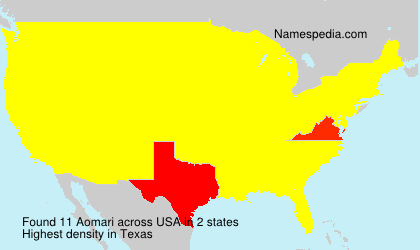 Surname Aomari in USA