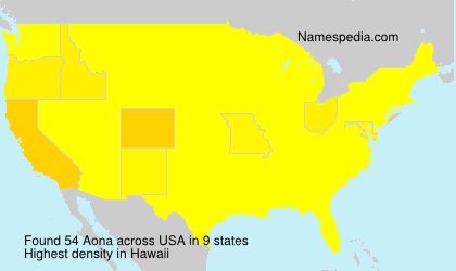Surname Aona in USA