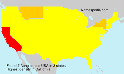 Surname Aong in USA
