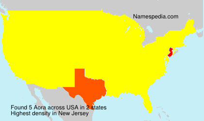 Surname Aora in USA