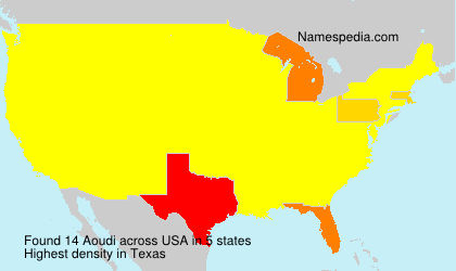 Surname Aoudi in USA