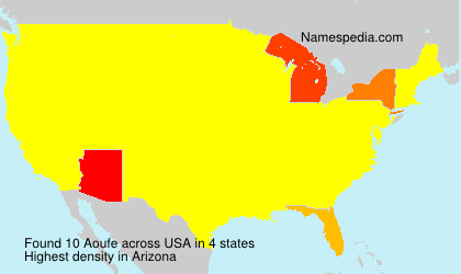 Surname Aoufe in USA