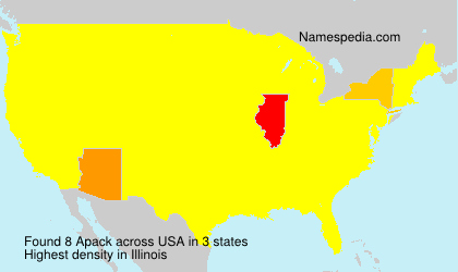 Surname Apack in USA