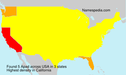 Surname Apad in USA