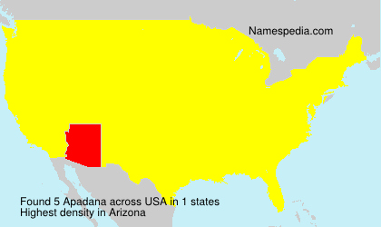 Surname Apadana in USA