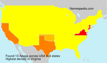 Surname Apaga in USA