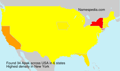 Surname Apak in USA