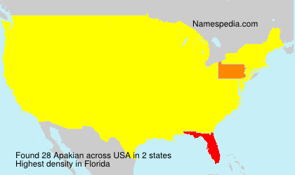 Surname Apakian in USA