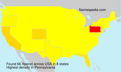 Surname Apanel in USA