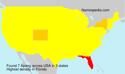 Surname Apang in USA