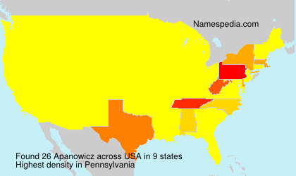 Surname Apanowicz in USA