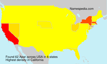 Surname Apar in USA