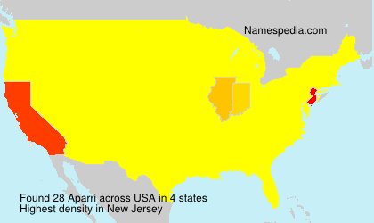 Surname Aparri in USA