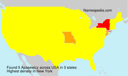 Surname Apasewicz in USA
