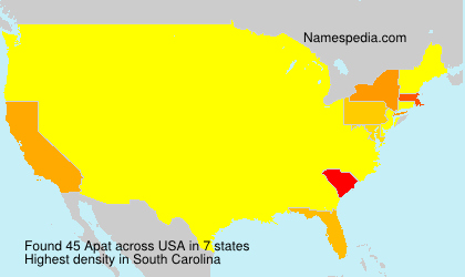 Surname Apat in USA