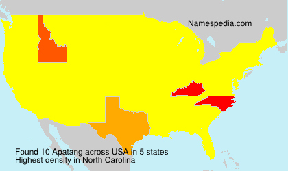 Surname Apatang in USA